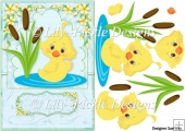 Happy Duckling Card Front & Decoupage