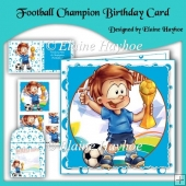 Football Champion Birthday Card Kit