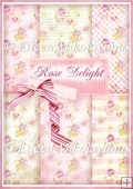 Rose Delight Background Papers Set