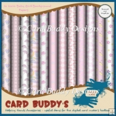 Twelve 12x12 Baby Girl Background Papers