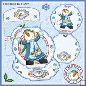 Happy Snowman Shaped Easel Card