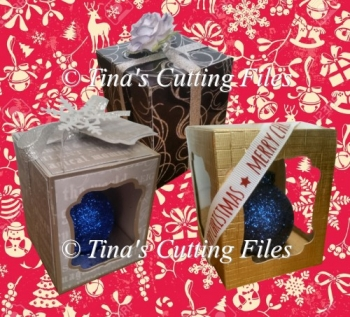 Christmas Bauble Ornament Box - multi design choice see details