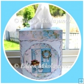 Garden Days KLEENEX Brand Tissue Box Cover with Directions
