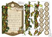 The Holly and the Ivy Christmas Carol Decoupage