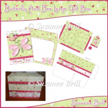 Butterfly And Bee Large Gift Box