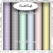 Set of 6 pastel gingham background papers