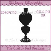 Oil Lamp Silhouette