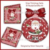 Xmas Trimmings Santa Bauble_Card_Box Kit