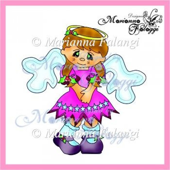 Home :: Digital Stamps / Line Art :: Angel christmas girl Digi Stamp