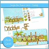 Jungle Fun Name Card - Daddy