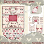 Drop Flap Card Love