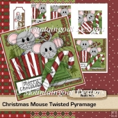 Christmas Mouse Twisted Pyramage