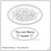 Berry Sweet Strawberries Digital Stamp