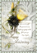 Anniversary Poem A4 Card Front