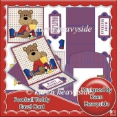 Football Teddy (5) Easel Card