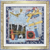 In a mans world tools galore 7x7 card with decoupage