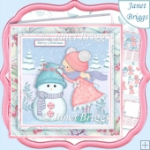 MY LITTLE SNOWMAN 7.5 Christmas Decoupage & Insert Kit