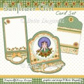 Sunflower Girl Easel Card