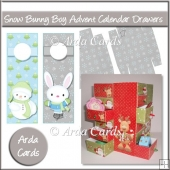 Snow Bunny Boy Advent Calendar Drawers