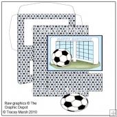 Light Blue Football Goal Easel Card Making Set