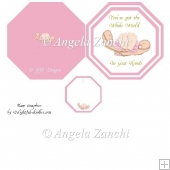 Baby Girl Plate Card