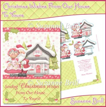 Christmas Wishes From Our House To Yours C5 Card