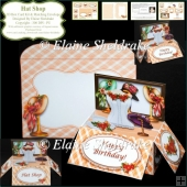 Hat Shop - 3D Pop Up Box Card Kit & Matching Envelope