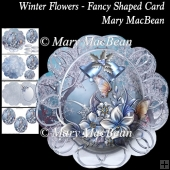 Winter Flowers - Fancy Shaped Card