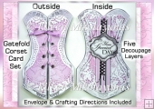 Gatefold Corset Cottage Chic Card Set