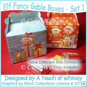 Elf Fancy Gable Boxes - Set 1