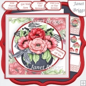 POPPY POT 7.5 Decoupage & Insert Kit for Various Occasions