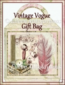 Vintage Vogue Large Handled Gift Bag/Tote