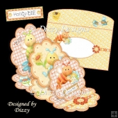 Triple Scallop Easel Card