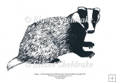 Badger - A5 Digi Stamp