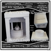 Wishing Well Keepsake/Luminary - Gift Box