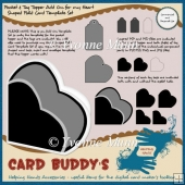 Pocket & Tag Topper Add On 4 my Heart Shaped Fold Card Template