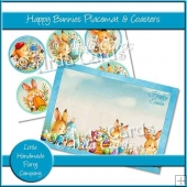 Happy Bunnies Placemat & Coasters