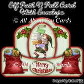 Elf Push N Pull Card & Envelope