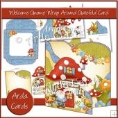Welcome Gnome Wrap Around Gatefold Card