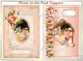 Picnic in the Park Set of 2 Toppers