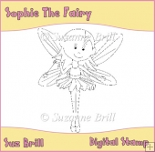 Sophie The Fairy Digital Stamp