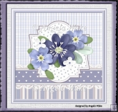 Blue flower 7x7 card