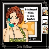 Hot Gossip 8x8 Decoupage Mini Kit