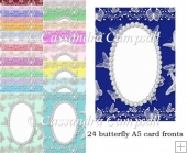 24 Butterfly A5 Card Fronts CU and Personal use set 14
