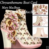 Chrysanthemums Boot Card