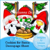 Cookies for Santa Decoupage Sheet