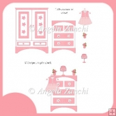 PINK BEDROOM CLIPART SET