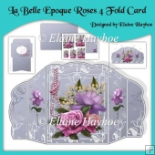 La Belle Epoque Roses 4 Fold Card