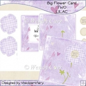 RTP Big Flower Card - TWO - LILAC
