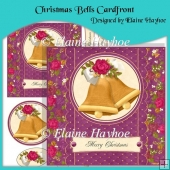 Christmas Bells Cardfront with Decoupage
